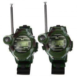 Long Range Two-way Radio Talky Camo Outdoor Army Kids Walkie Talkies Watch Toy -