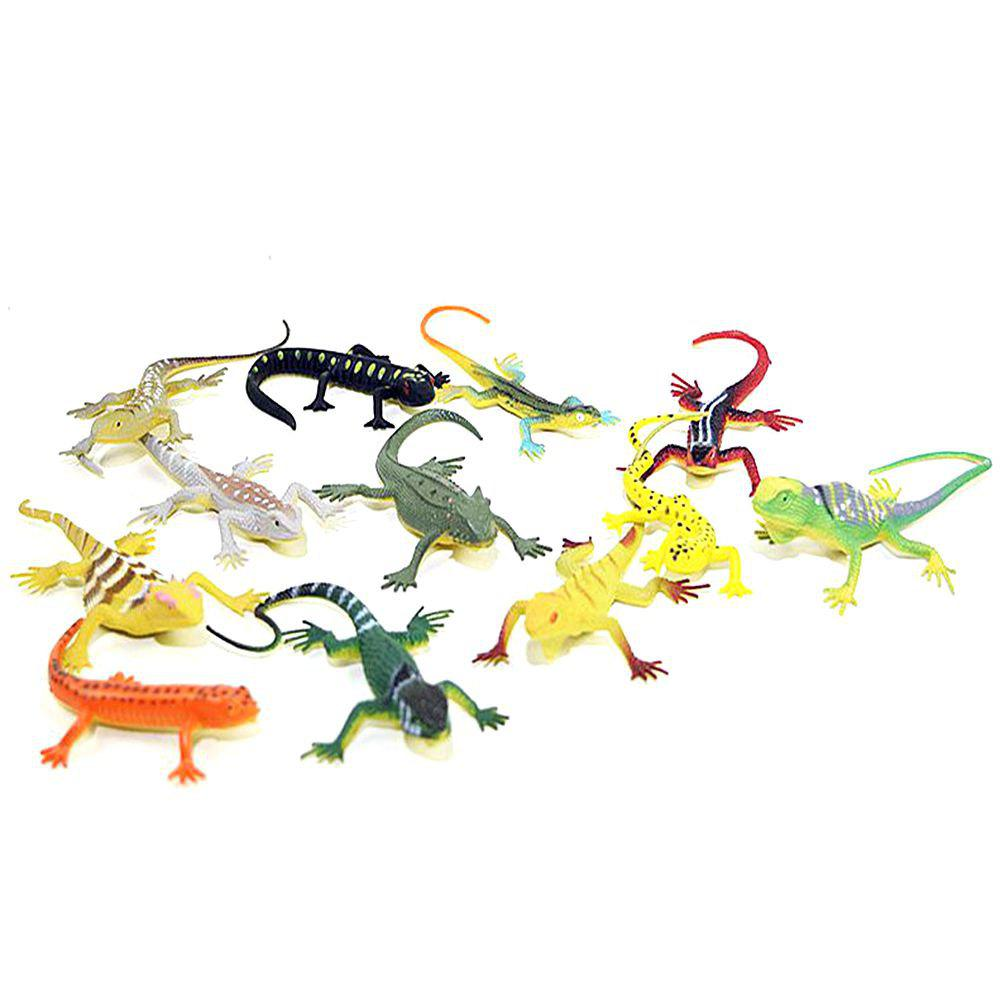 Fancy Children Colored lLizard Toys 12PCS