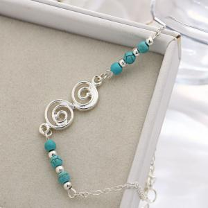 Bohemian Turquoise Beach Spiral Anklet -