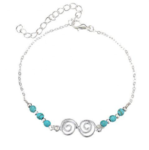 Buy Bohemian Turquoise Beach Spiral Anklet