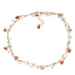National Style Natural Stone Double Necklace -