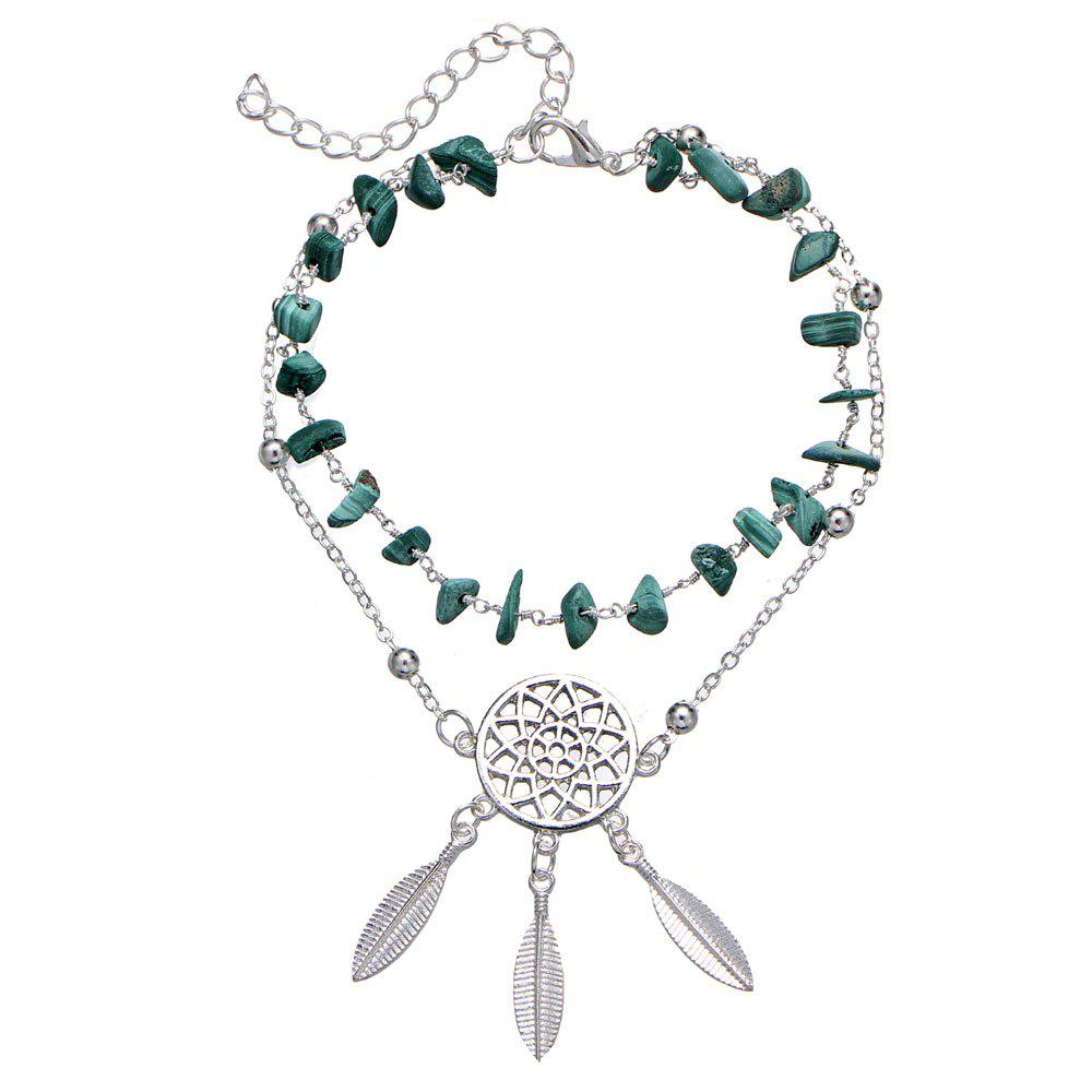 Fashion Hollow-Out Dreamcatcher turquoise pendentif plage cheville