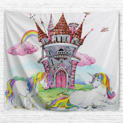 Castle Unicorn 3D Printing Home Wall Hanging Tapestry for Decoration -