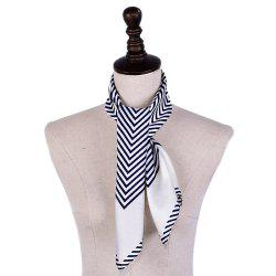 Women'S Striped Silky Professional  Square Scarf -