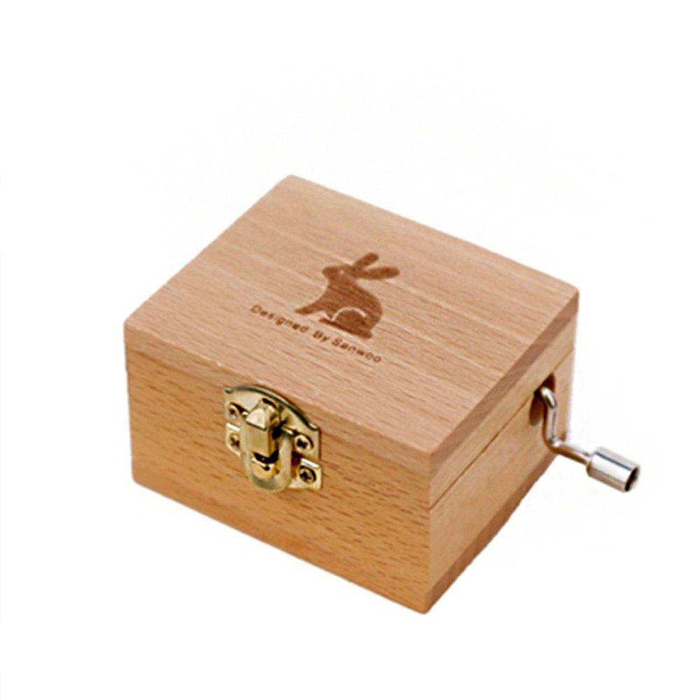 Store Creative Home Decoration Wooden Hand-made Music Box