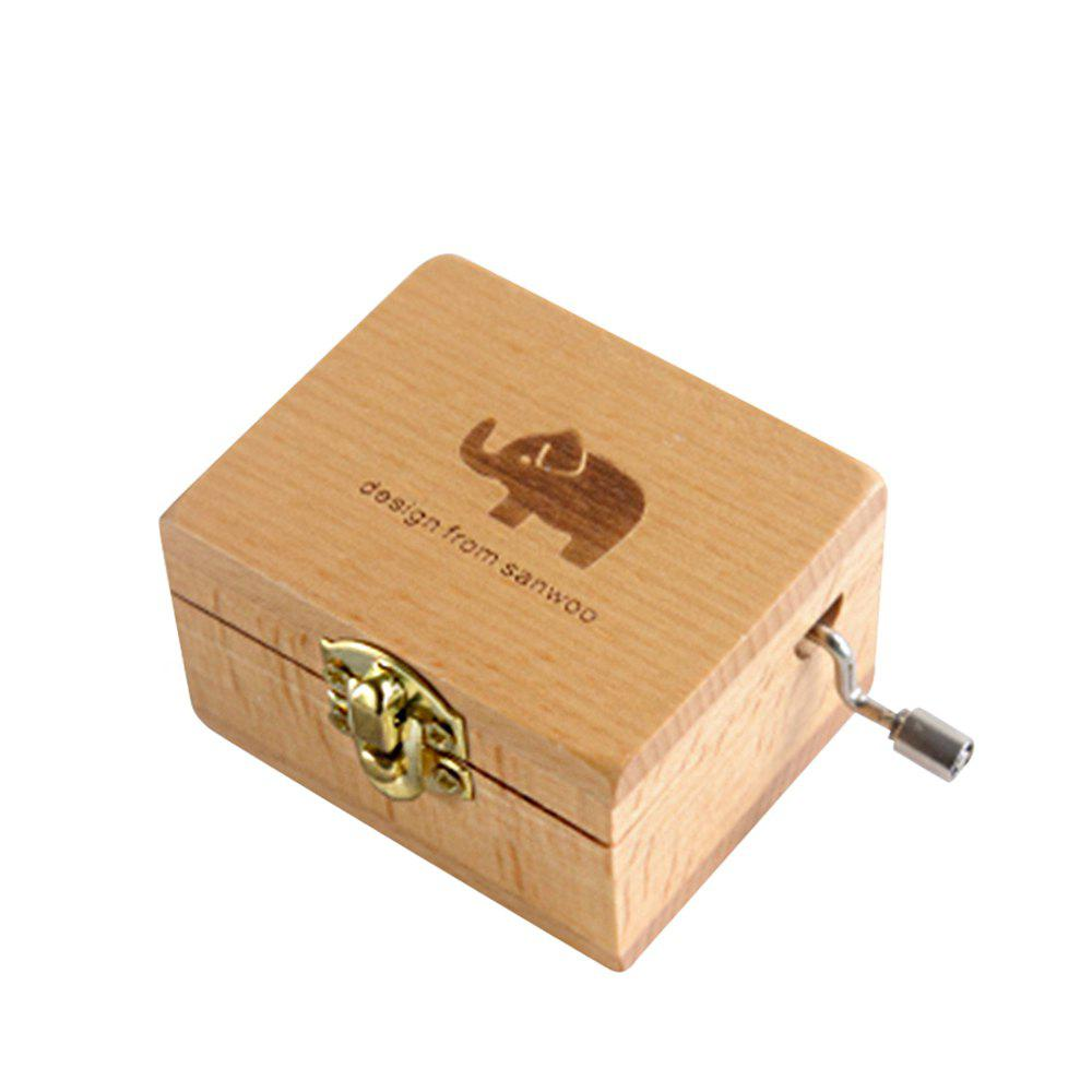 Buy Creative Home Decoration Wooden Hand-made Music Box