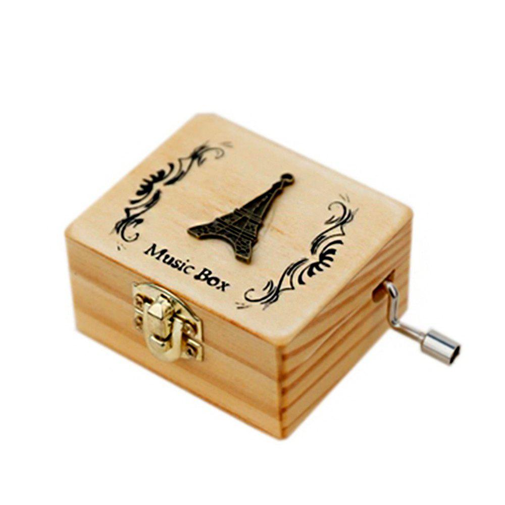 New Creative Home Decoration Wooden Hand-made Music Box