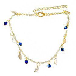 Minimalism Metal Chain with Leaf Beads Anklets -