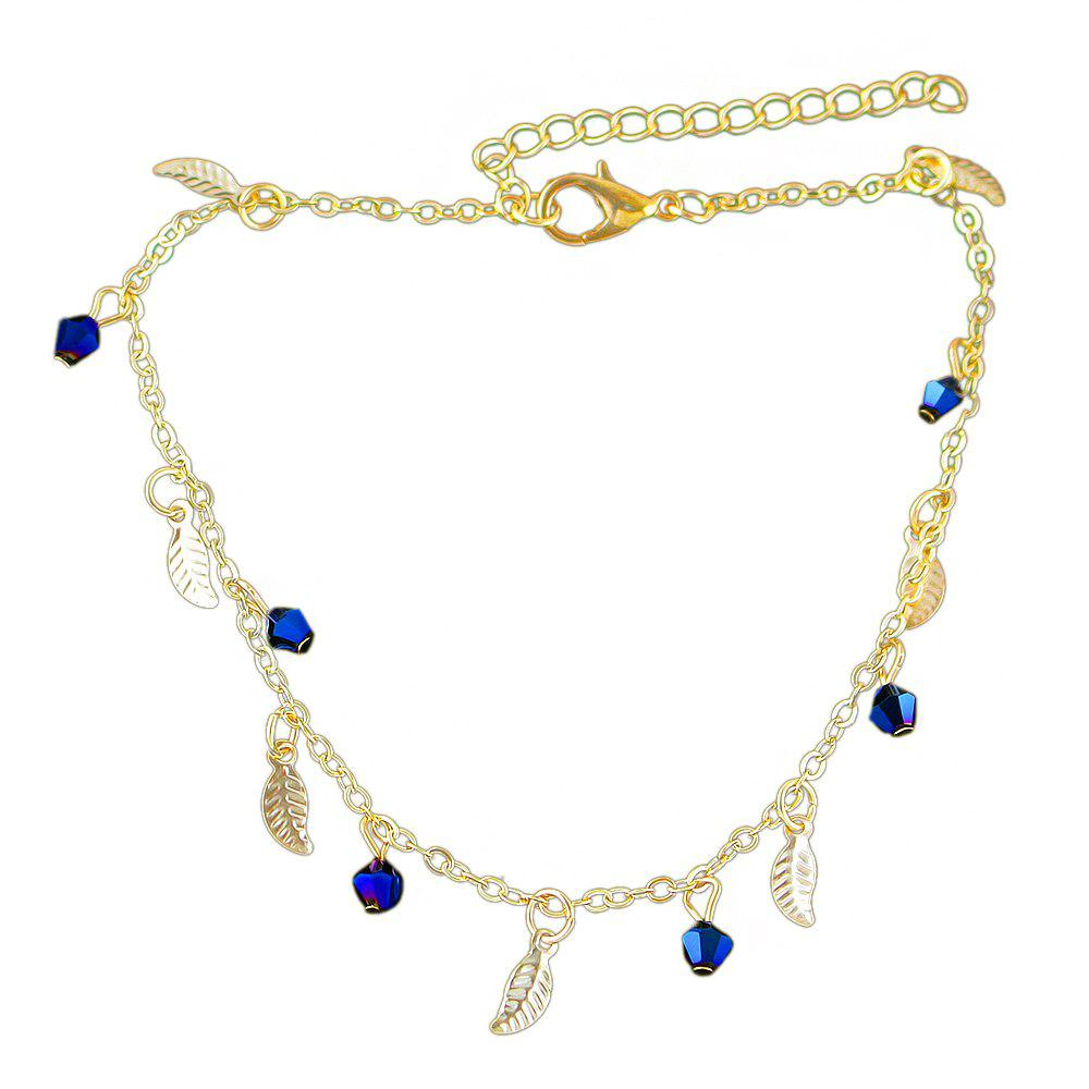 Affordable Minimalism Metal Chain with Leaf Beads Anklets