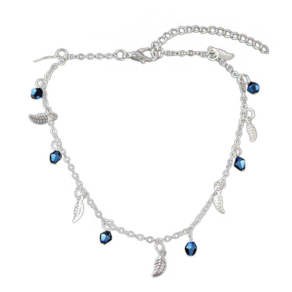 Latest Minimalism Metal Chain with Leaf Beads Anklets