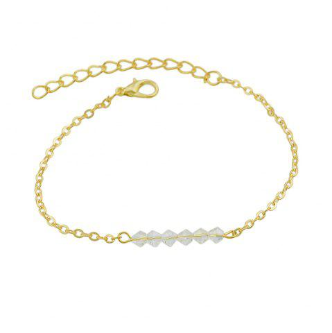 Trendy Gold-color Chain with Beads Geometric Minimalist Anklets