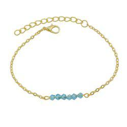 Gold-color Chain with Beads Geometric Minimalist Anklets -