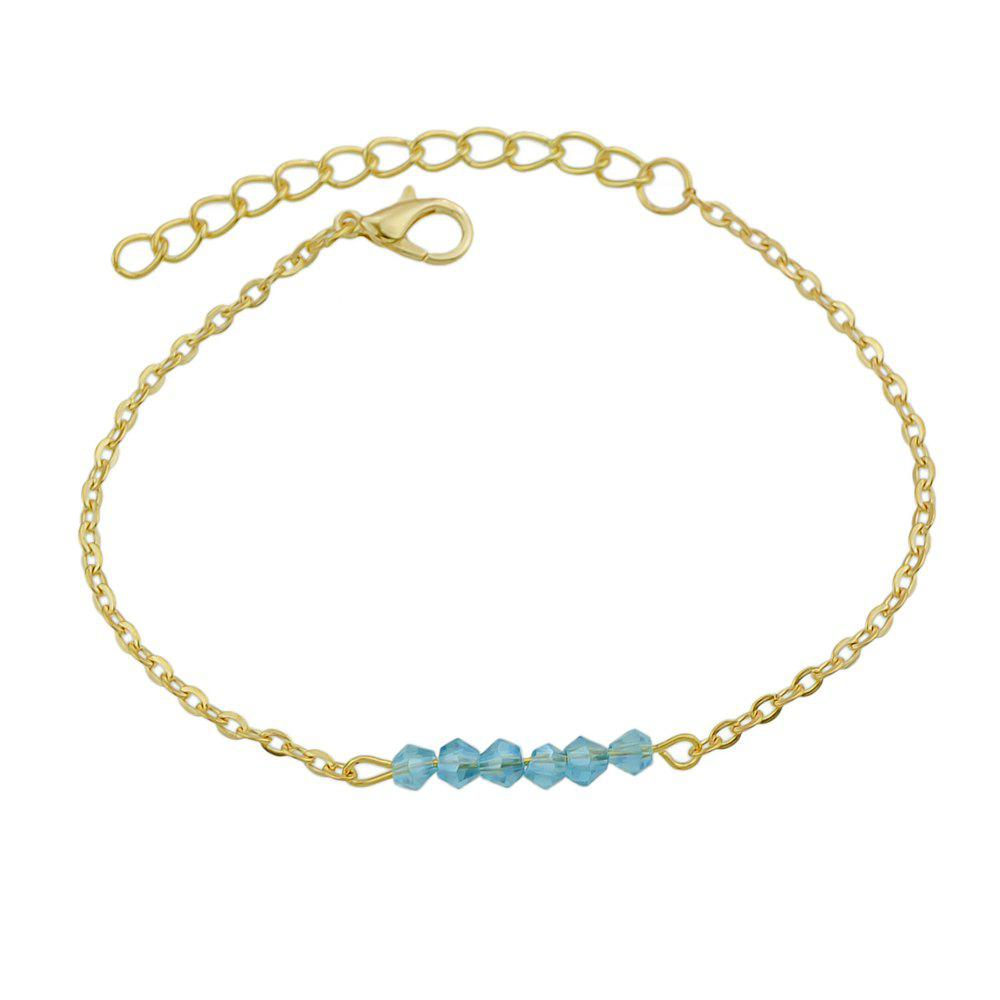 Fancy Gold-color Chain with Beads Geometric Minimalist Anklets