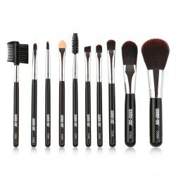 10PCS Portable Makeup Brush Set -