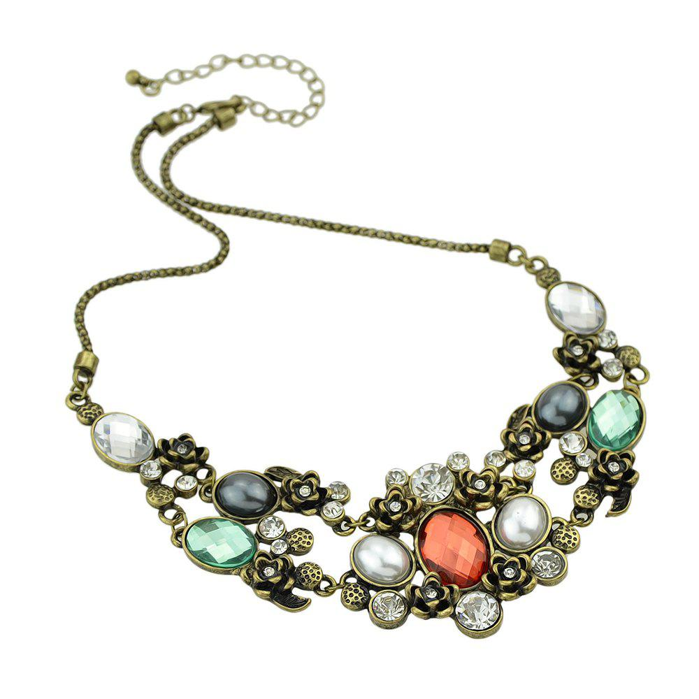 Cheap Colorful Rhinestone Collares Statement Necklace