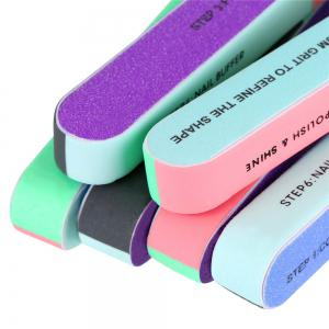 Nail File and  Buffer Cosmetic Manicure 7 Ways  4 Pack -