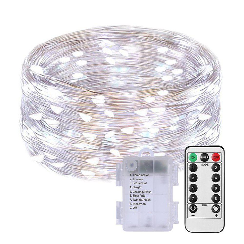 2019 100 led string fariy lights battery operated waterproof with remote control. Black Bedroom Furniture Sets. Home Design Ideas