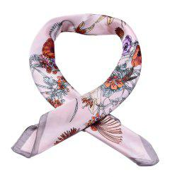 New Silk Satin Fake Collar Small Square Scarf for Ladies -