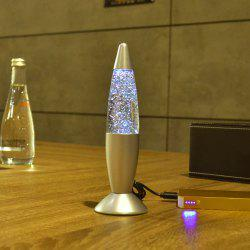 Flashing Glitter Lava Lamp Atmosphere LED Changable Night Light -