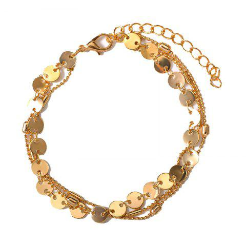 Affordable Summer Fashion Beach 3 Layers Sequinned Chain Anklet