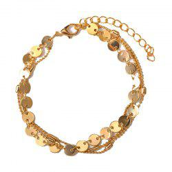 Summer Fashion Beach 3 Layers Sequinned Chain Anklet -
