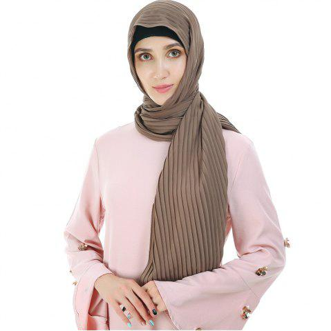 Best New Solid Color Wrinkle Travel Long Scarf
