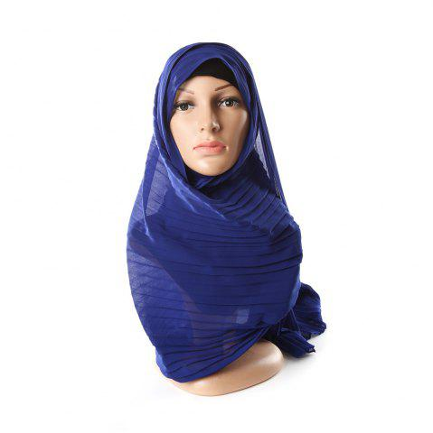 New New Solid Color Wrinkle Travel Long Scarf