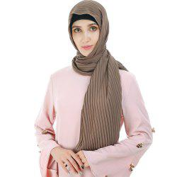 New Solid Color Wrinkle Travel Long Scarf -