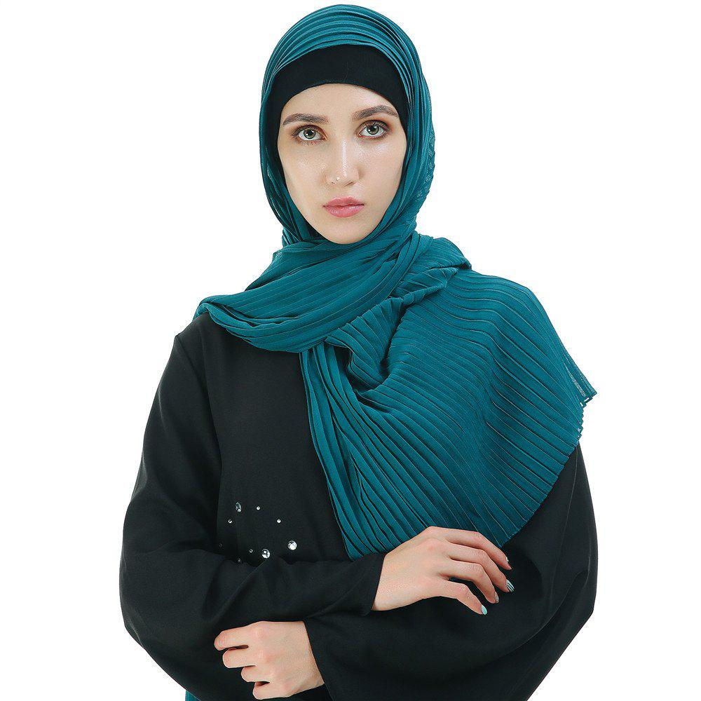Unique New Solid Color Wrinkle Travel Long Scarf