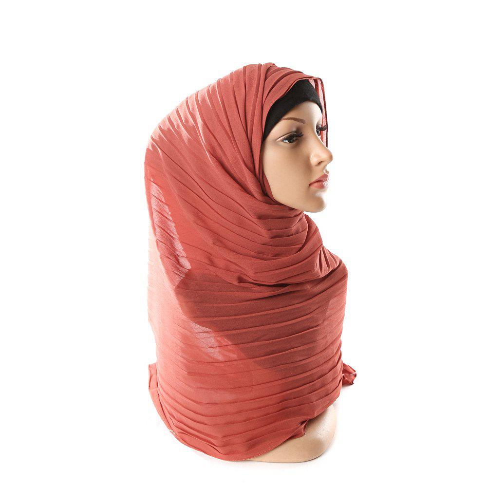 Fashion New Solid Color Wrinkle Travel Long Scarf