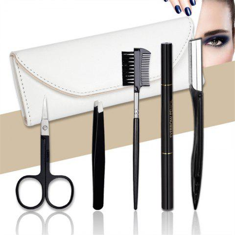 Fashion Stainless Steel Eyebrow Shaping Knife 5 Pieces Suit