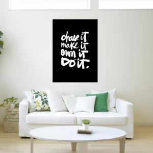 W363 Letters Unframed Art Wall Canvas Prints for Home Decoration -