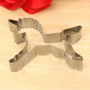 Unicorn Shape Biscuit Cookie Cutter Horse Tools Stainless Steel Baking Mold -