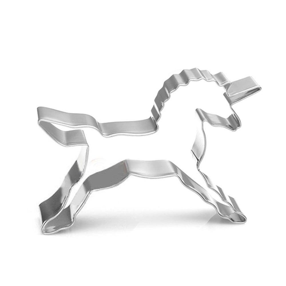 New Unicorn Shape Biscuit Cookie Cutter Horse Tools Stainless Steel Baking Mold