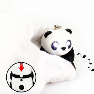 Panda LED Keychain Flashlight Keyring with Sound -