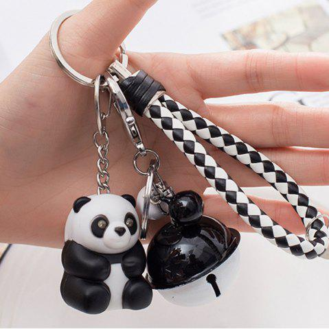 Trendy Panda LED Keychain Flashlight Keyring with Sound