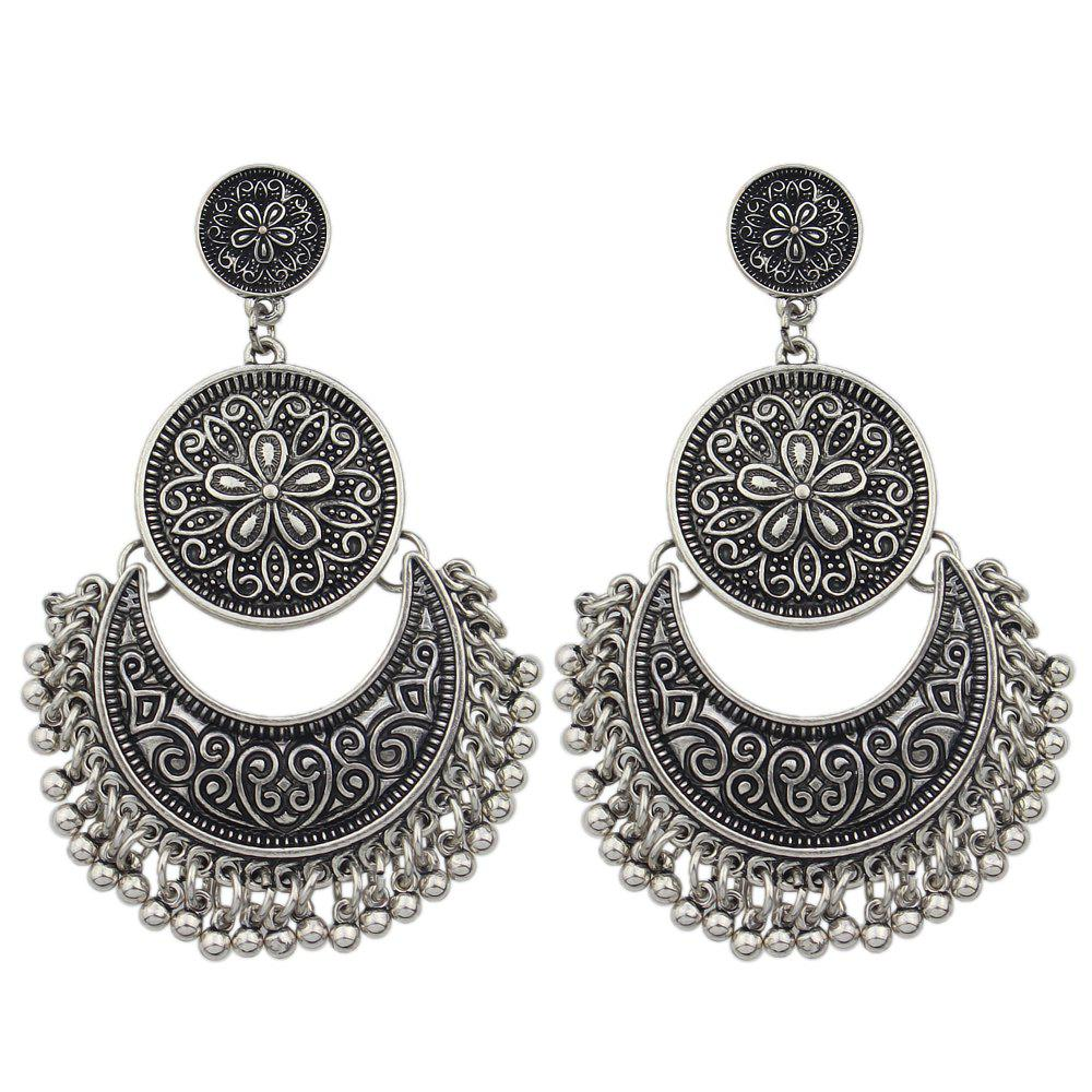 Trendy Geometric Ethnic Statement Earrings