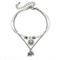 Elephant Three Layers Vintage Fashion Lady Anklet -
