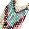 Colorful Beads Tassel Pendant Necklace -