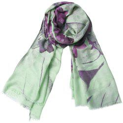 Fashion Women Cotton Flower Print Scarf  Towel Bandana Long Coat Foulard Female -
