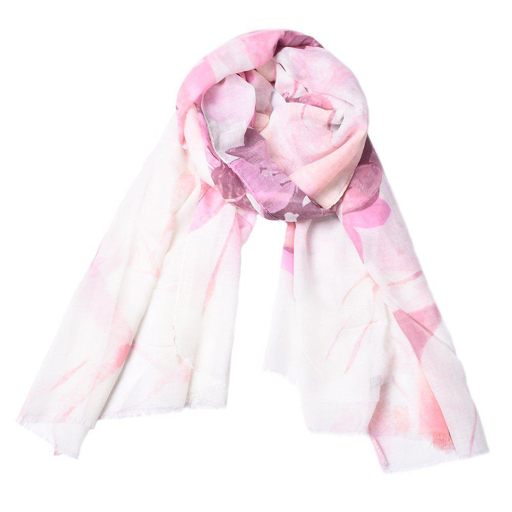 Affordable Fashion Women Cotton Flower Print Scarf  Towel Bandana Long Coat Foulard Female