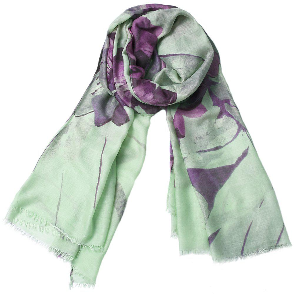 Shops Fashion Women Cotton Flower Print Scarf  Towel Bandana Long Coat Foulard Female