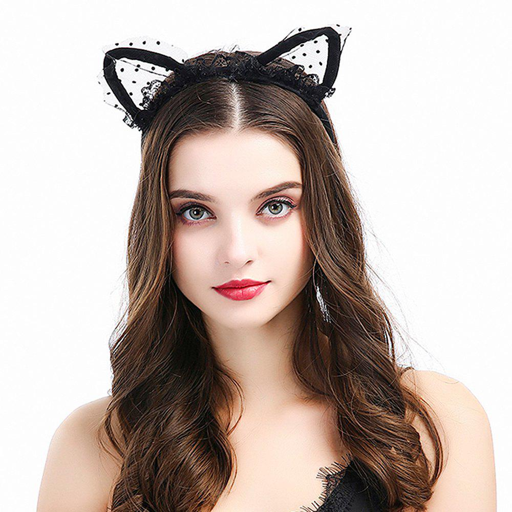 Outfit New Black Cat Earband Headband Fabric Hair Accessories