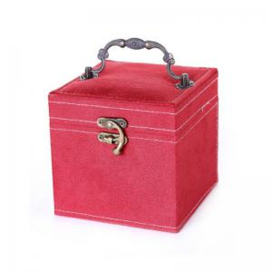 Three Layers Flannel Jewelry Display Portable Cosmetic Box -
