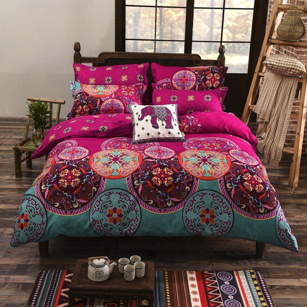 Fashion Bohemian Mandala Duvet Cover with Pillow Case Quilt Bedding Set