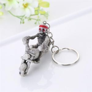 Halloween High Quality Rubber Ride Motorcycle Keychain -