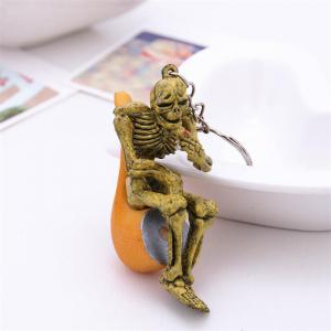 Halloween High Quality Rubber Pipe Keychain -