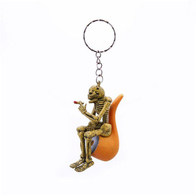 Fancy Halloween High Quality Rubber Pipe Keychain