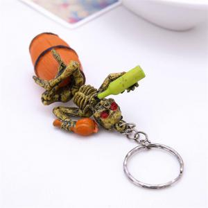 Halloween High Quality Rubber Bottle Keychain -