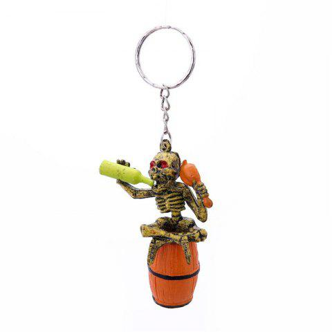 Trendy Halloween High Quality Rubber Bottle Keychain
